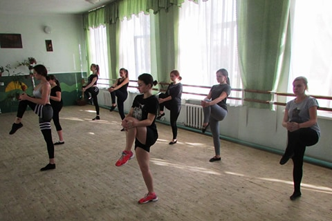 Ансамбль естрадного танцю Імпресія на семінарі від фітнес-тренера Ірини Трегуб