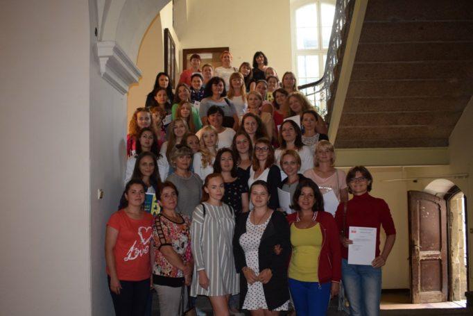 Учасники Літньої академії польської мови і культури у Вроцлаві