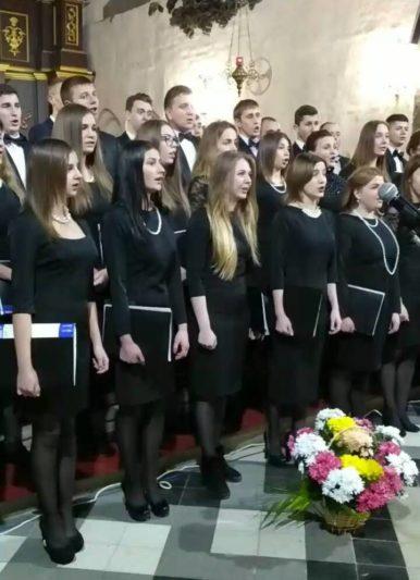 Виступ студентської хорової капели «GAUDEAMUS»