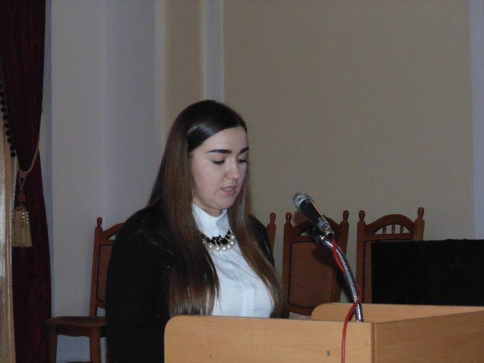 Виступ студентки Марії Хомик
