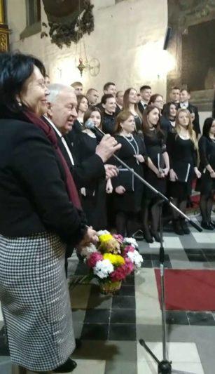 Вітальне слово виголошують ректор професор Надія Скотна та професор Степан Дацюк