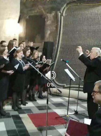 Виступ хорової капели «GAUDEAMUS» під керівництвом заслуженого працівника культури України, професора Степана Дацюка