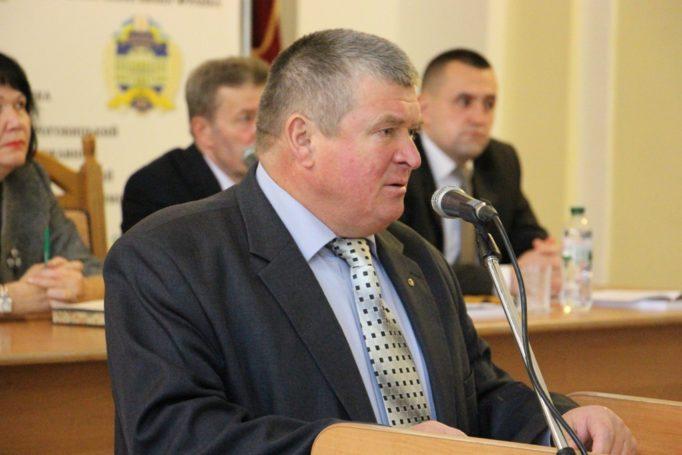Учасників та гостів конференції вітає голова Дрогобицької районної ради Михайло Сікора