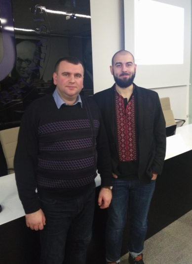 Координатор Проекту SAIUP Тарас Тимочко (American Councils) та доцент Юрій Вовк