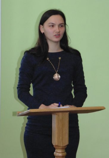Модератор конференції-презентації Наталія Биців.