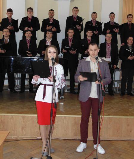 Ведучі вечора - студенти Христина Флешко та Андрій Василів