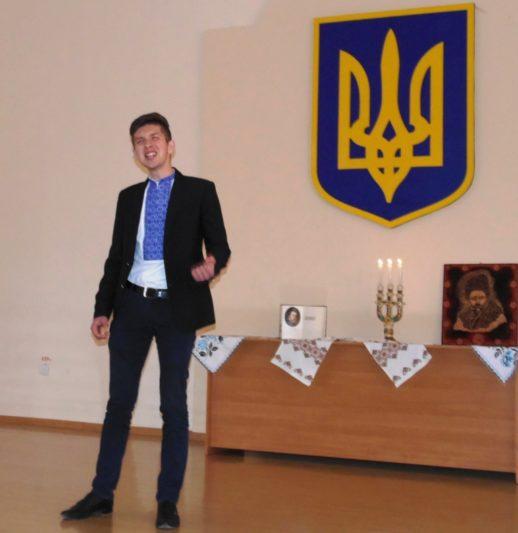 Переможець конкурсу студент історичного факультету Василь Хорканін