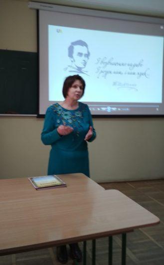 Вітальне слово виголошує професор Марія Федурко