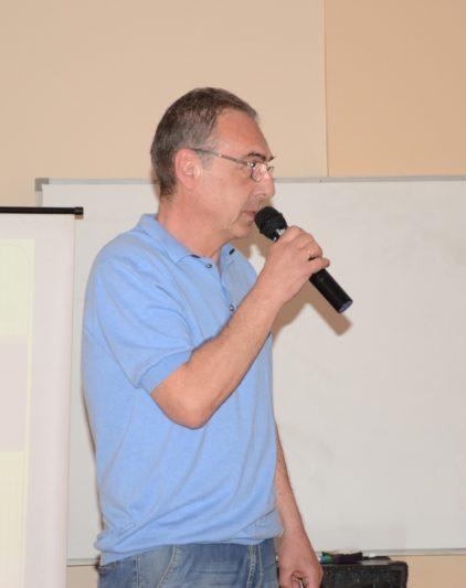Виступ заступника директора ІФМЕІТ доцента Юрія Галя