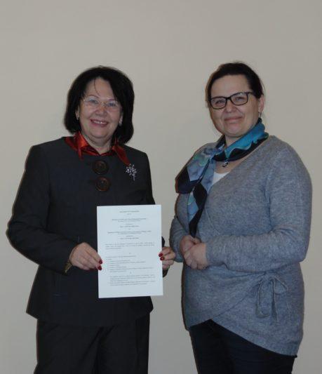 Професор Надія Скотна та доктор Віолетта Юнік