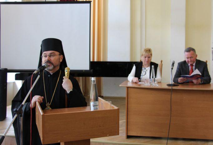 Слово на пошану професора Валерія Скотного виголошує єпископ Самбірсько-Дрогобицької єпархії владика Ярослав Приріз