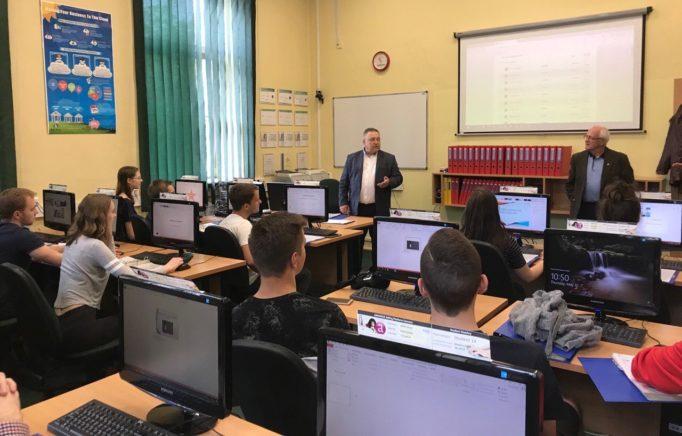 Лекція професора Миколи Лук'янченка для польських студентів