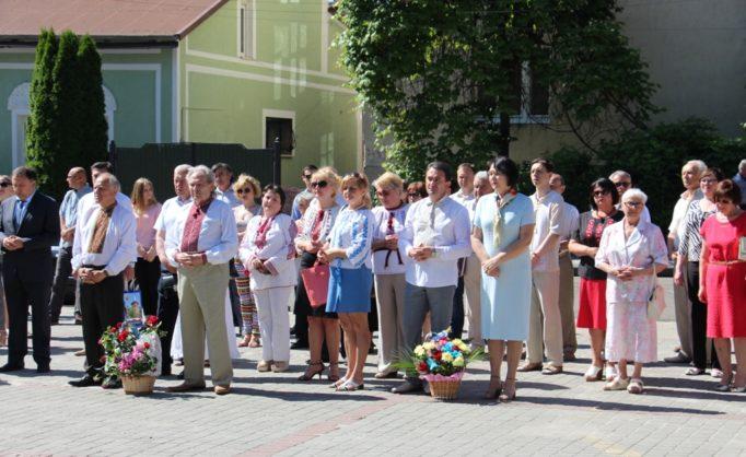 Покладання квітів до підніжжя пам'ятника Іванові Франку (Дрогобич)