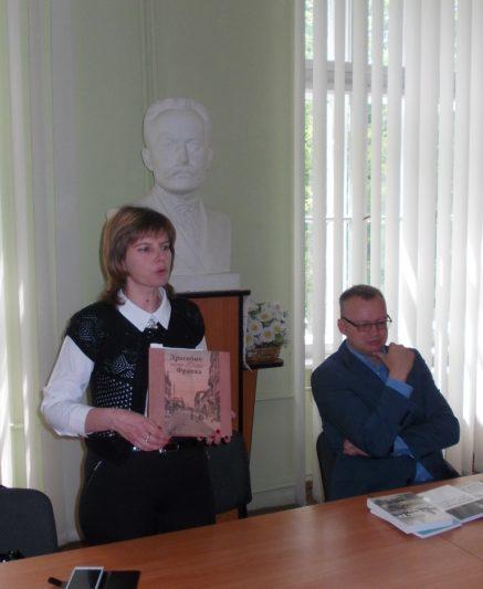 Доцент Ірина Дмитрів та професор Петро Іванишин