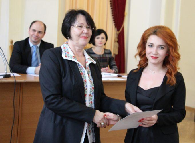 Нагороду отримує студентка історичного факультету Аліна Звіринська