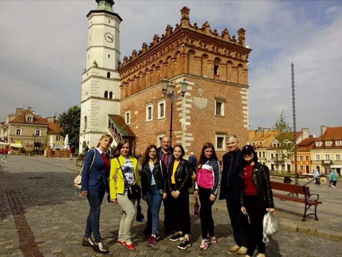 Студенти в Сандомирi (Польща)