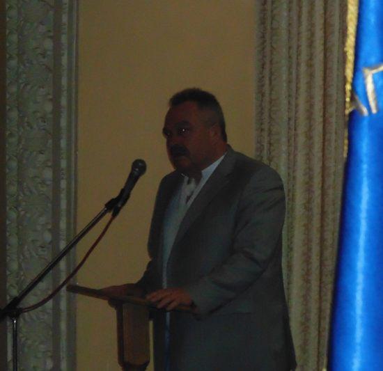 Вітальне слово виголошує голова Дрогобицької райдержадміністрації Андрій Шевкенич