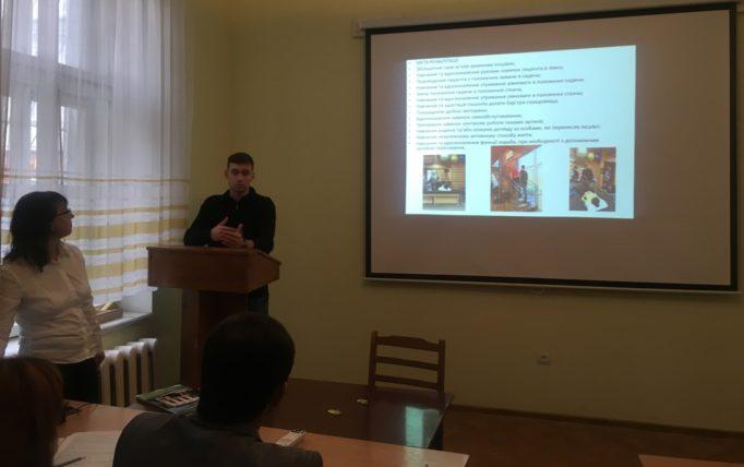 Доповідає магістр другого року навчання Віктор Одєгов